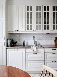 Ideas For Kitchen Backsplash Ideas Glass Butcher Blocks Home Decor Kitchen, Kitchen Interior, New Kitchen, Kitchen Ideas, Kitchen Cabinets And Backsplash, Backsplash Ideas, Formica Countertops, Cuisines Design, Küchen Design