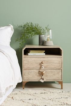 Zagora Tasseled Nightstand - Best Room Decorations for Your Home Unique Bedroom Furniture, Affordable Furniture, Repurposed Furniture, Home Decor Furniture, Bedroom Decor, Bedroom Ideas, Bedroom Inspiration, Bedroom Night, Furniture Update