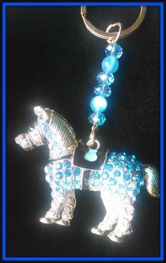 Swarovski Horse Keychain by Purrwoof on Etsy, $12.00