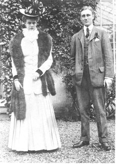 Young Eleanor and Franklin Roosevelt