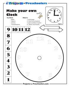 Free Printable Make A Clock Coloring Page