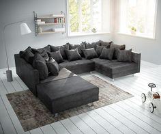 DELIFE Wohnlandschaft Clovis Anthrazit Antik Optik modular Hocker, Design Wohnlandschaften, Couch Loft, Modulsofa, modular Jetzt bestellen unter: https://moebel.ladendirekt.de/wohnzimmer/sofas/wohnlandschaften/?uid=f82b1723-85fc-55cc-b006-dfaccdd84e26&utm_source=pinterest&utm_medium=pin&utm_campaign=boards #sofas #wohnzimmer #wohnl #schaften