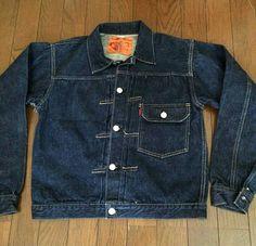 Vtg Levi's 506XX 30's Denim Men, Raw Denim, Denim Vintage, Vintage Jacket, Workwear Fashion, Denim Fashion, Western Outfits, Western Wear, Clothing Styles