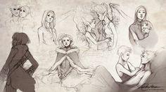 Sketches VII by Charlie-Bowater.deviantart.com on @DeviantArt