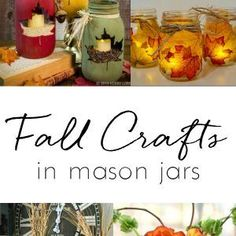 Fall Mason Jar Craft Ideas