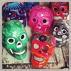 Hand painted skulls from Guerrero!