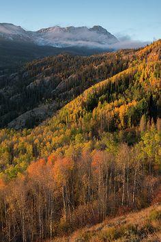 Eagles Nest Peak - Gore Range, Colorado : Mountain photography by Aaron Spong #Fallcolors