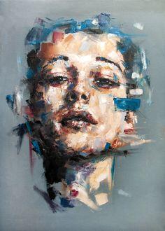 """Davide Cambria (German: 1986) - """"Questo lato della verità [SOLD]"""" - Oil on canvas 2014"""