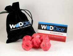 "Are you a Firebreather? Are you ready to kick things up a notch? Announcing our WODDice ""Firebreather"". ""Sometimes in life, you must gotta roll the dice."