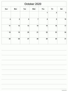 Editable October 2020 Blank Calendar Template Blank Calendar Pages, Blank Calendar Template, October, Printables, Templates, Words, Stencils, Print Templates, Template