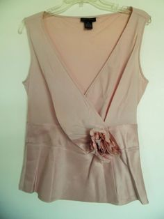 THE LIMITED  WOMEN'S SLEEVELESS  SILK TOP SHIRT TANK  SZ   M #TheLimited #TankCami #Casual