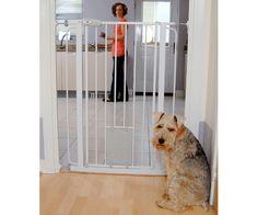 Detalles Acerca De Baby Safety Gate Walk Thru Door Metal Pet Dog Cat Fence  Child Toddler Extra Wide | Pinterest