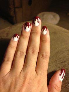 October 2012: Nail Art - Halloween, Blood