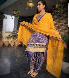 Custom made at Royal Threads Boutique.To order whatsapp@ Salwar Suits Party Wear, Punjabi Salwar Suits, Designer Punjabi Suits, Indian Designer Wear, Salwar Kameez, Patiala Pants, Punjabi Fashion, Indian Bridal Fashion, India Fashion