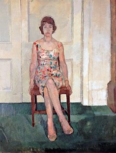 Euan-Uglow - 'Susan Sitting'. 1957