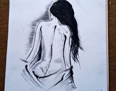 """Check out new work on my portfolio: """"Nude Girl Body Back Charcoal Drawing Beginner Sketches, Drawing For Beginners, Drawing Tutorials, Drawing Techniques, Drawing Tips, Drawing Ideas, Easy Charcoal Drawings, Charcoal Sketch, Charcoal Art"""
