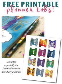 Free Printable Planner Tabs | Kristal Norton