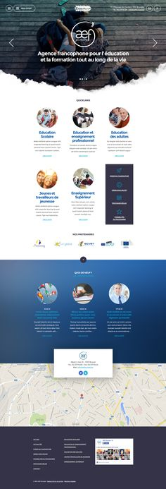 AEF Erasmus Website on Behance