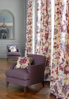Manuel Canovas' Beaugard (drapes and pillows) and Ales (chairs)