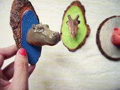 Mini-Taxidermy...Llevo el invierno ♥: R.e. Animal Heads !