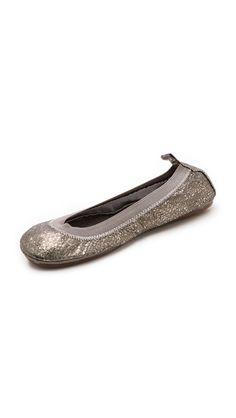 Yosi Samra Metallic Ballet Flats #womens #metallic-leather #ballet #flats #gold #love #wantering