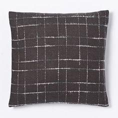 West Elm Fading Plaid Pillow Cover - Slate #westelm