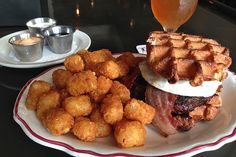 The Oath Burger is but one of many menu items to feature waffles.
