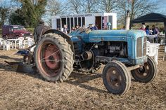 Antique Tractors, Vintage Tractors, Old Tractors, Vintage Farm, New Tractor, Rubber Tires, Heavy Equipment, Old And New, Farming