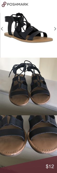 Mia Lace Up Sandals Not worn a few times. Minor scuffs in 3rd pic. MIA Shoes Sandals
