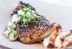 Sea Bass with Soy Glaze and Cucumber Salsa from Leite's Culinaria