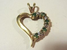 Vintage 10k solid yellow gold Genuine Emerald by wandajewelry2013, $60.00