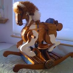 handcrafted rocking horses   Ideas For Custom American Rocking Horse Designs   CustomMade.com Rocking Horses, Scooby Doo, Wood Working, Table Lamp, American, Ideas, Design, Home Decor, Art