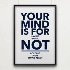 Don't hold your ideas!