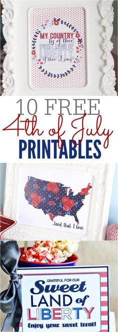 Use one of these 10 4th of July Printables to help decorate your home for less. These patriotic printables are easy to print for your home.