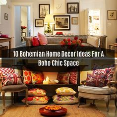 10 Bohemian Home Decor Ideas For A Boho Chic Space Are you looking for Bohemian home decor that will spice up your kitchen, living room,. Easy Home Decor, Boho Chic, Decor Ideas, Decorating, Living Room, Diy, Do It Yourself, Decoration, Bricolage