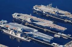 Bremerton, WA Decommissioned Carriers.  USS Ranger, Independence, and Constellation.