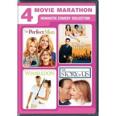 4 Movie Marathon: Romantic Comedy Collection (The Perfect Man / Head Over Heels / Wimbledon / The Story of Us) --- http://www.pinterest.com.mnn.co/1n