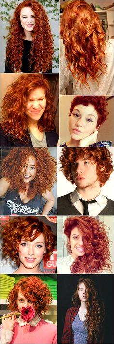 Cacheados Coloridos: Cabelos cacheados ruivos. Aqui a Merida é nossa inspiração. Curly red hair. #redhead #Curlyhair #Merida #CabelosCacheados