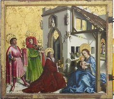 Konrad Witz L'Adoration des mages, 1444 Après traitement de conservation-restauration en 2011-2012 Cadre d'origine restauré © MAH, photo : Flora Bevilacqua