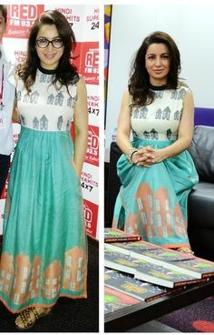 Tisca Chopra in Summerhouses handwoven jamdani maxi dress