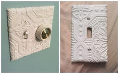 Textured Wallpaper on light switch covers