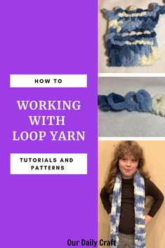 "Loop yarn is a fun and easy yarn that you ""knit"" with your fingers by pulling loops through each other. Learn the basics of working with loop yarn. Christmas Crafts To Sell, Diy Holiday Gifts, Crafts To Make And Sell, Paper Crafts For Kids, Finger Knitting, Free Knitting, Make And Do Crew, Construction Paper Crafts, Diy Wedding Backdrop"