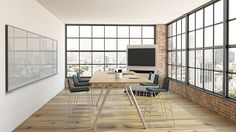 Potrero415 Table, now available in standing height, and Montara650 Stools.