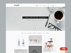 Day 2 - Free PSD - Minimal Portfolio Web Design