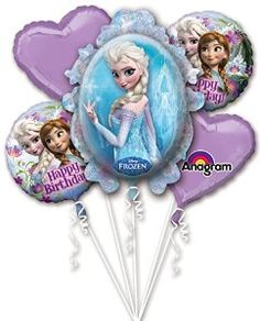 Amazon.com: Disney Frozen Birthday Balloon Bouquet: Toys & Games