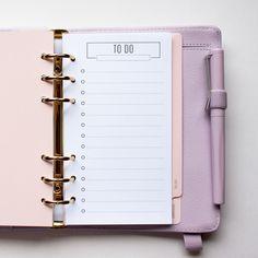 ToDo Liste für Ringbuch Kalender (Filofax pers.) von olialemon auf DaWanda.com