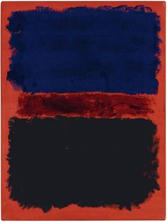 dailyrothko:  Mark Rothko, Untitled ( Blue, Red, Black on Red), 1967, acrylic on paper laid down on panel, 24 x 18 in. (70 x 45.7 cm.)