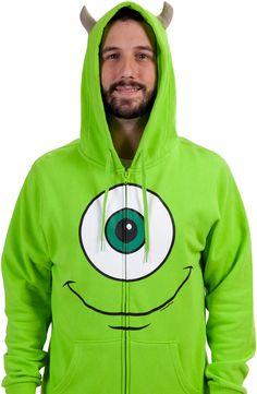 Mike Wazowki Monsters Inc Costume Hoodie