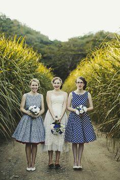 brides of adelaide magazine - fashion - bridesmaids - patterned bridesmaid dresses
