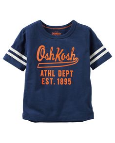 Kid Boy Varsity Logo Tee from OshKosh B'gosh. Shop clothing & accessories from a trusted name in kids, toddlers, and baby clothes.